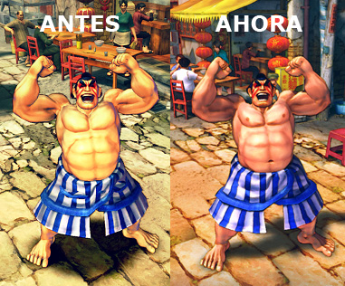 Comparativa mejora Street Fighter IV