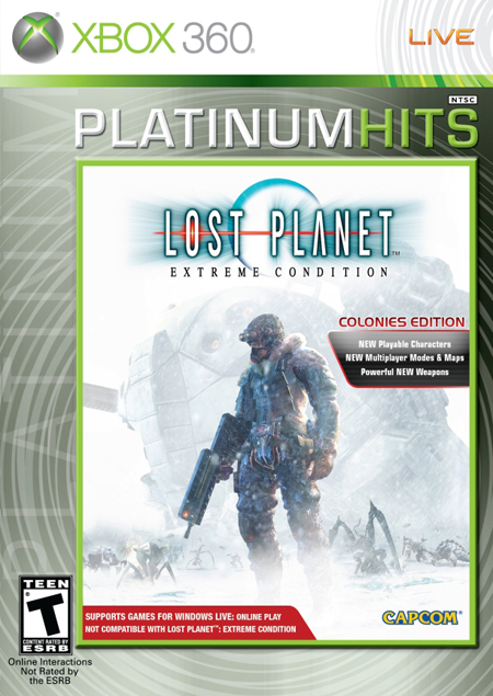 Lost Planet Colonies Portada versión USA