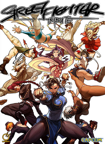 Street Fighter Tribute artbook cover