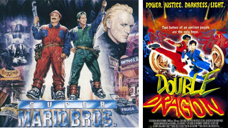 Double Dragon y Super Mario Bros. películas