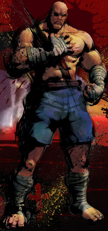 Sagat Street Fighter IV artwork