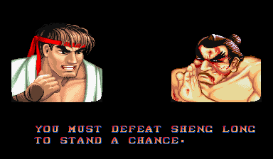 You must defeat sheng long to stand a chance