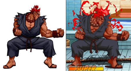 Super Street Fighter II Turbo HD Remix Akuma diferencias