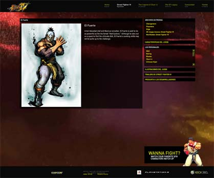Street Fighter IV Site Oficial