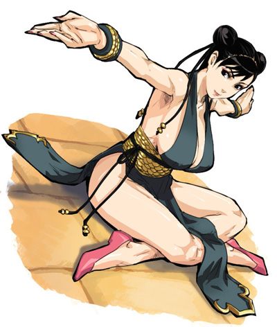 Street Fighter IV Chun-Li alternate costume fan-art