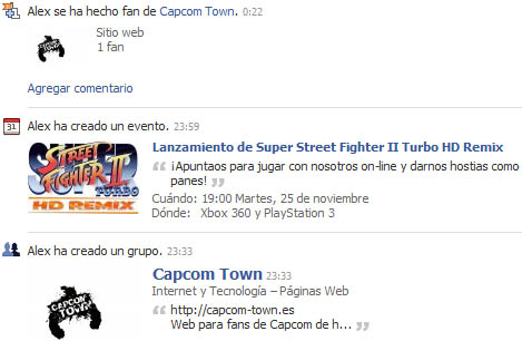 Capcom Town en Facebook